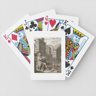 Amphion Builds the Walls of Thebes by the Music of Poker Deck