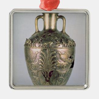 Amphora, late 4th century BC Silver-Colored Square Decoration
