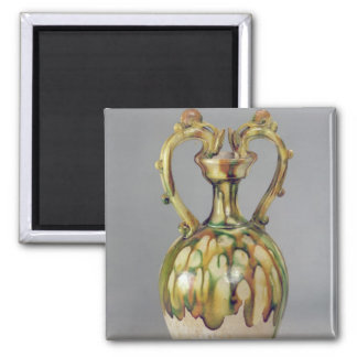 Amphora with handles in the form of dragon square magnet