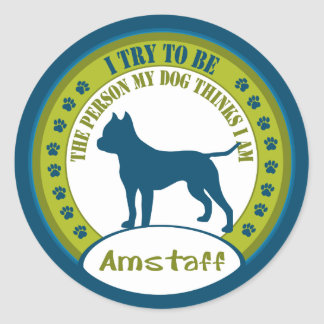 Amstaff Classic Round Sticker