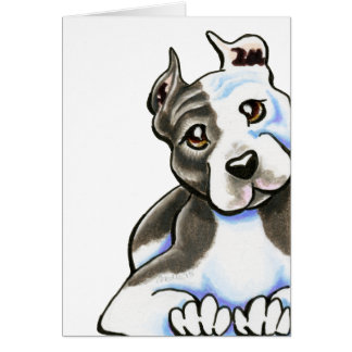 Amstaff Lean on Me Card