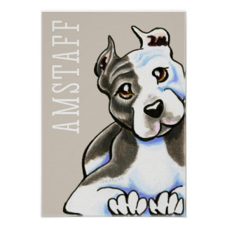 Amstaff Lean on Me (Type) Poster
