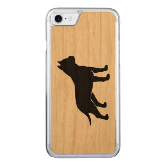 AmStaff Silhouette (Cropped Ears) Carved iPhone 8/7 Case