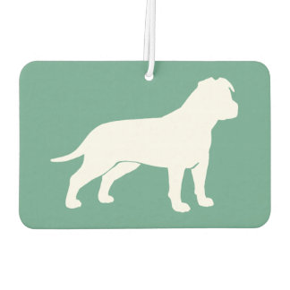 AmStaff Silhouette (Floppy Ears) Car Air Freshener