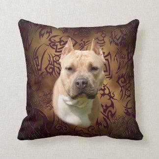 Amstaff tribal tattoo cushion