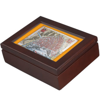 Amsterdam Antique Map Memory Boxes