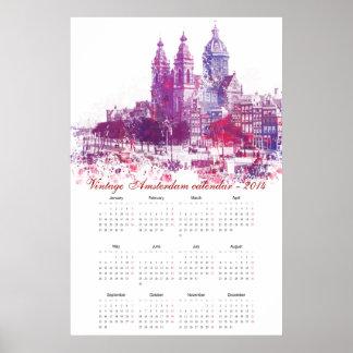 Amsterdam architecture calendar 2014 poster