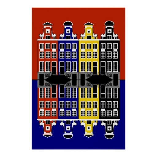 Amsterdam Architecture - Merchants' houses Poster