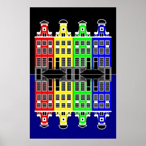 Amsterdam Architecture - Merchants' houses Print