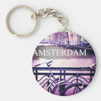 Amsterdam Basic Round Button Key Ring