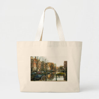 Amsterdam Bicicle Large Tote Bag