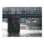 Amsterdam Bicycle Bridge Canal  Photo Postcard