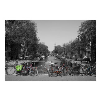 Amsterdam Bicycles Poster