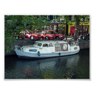 Amsterdam Boat on Canal Poster