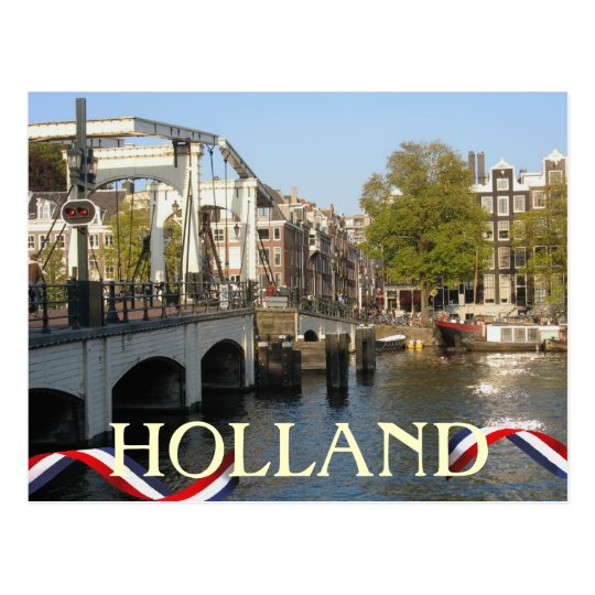 Amsterdam Bridge Holland Postcard