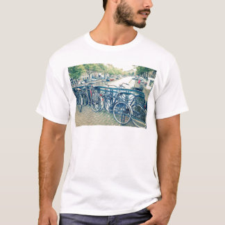 Amsterdam canal and bicycles T-Shirt