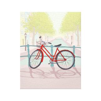 Amsterdam Canal Bike Canvas Print