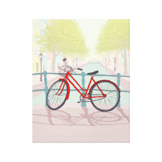 Amsterdam Canal Bike Gallery Wrapped Canvas