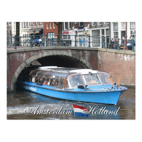 Amsterdam Canal Boat Tour Postcard