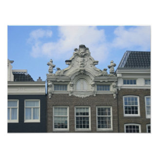 Amsterdam Canal Houses Gables Photo Poster