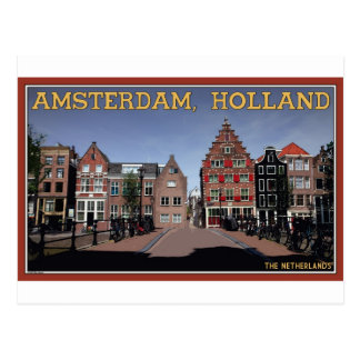 Amsterdam Canal Houses Postcard