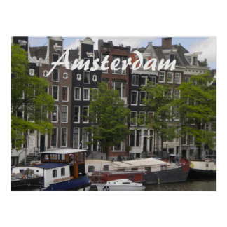 Amsterdam canal houses poster