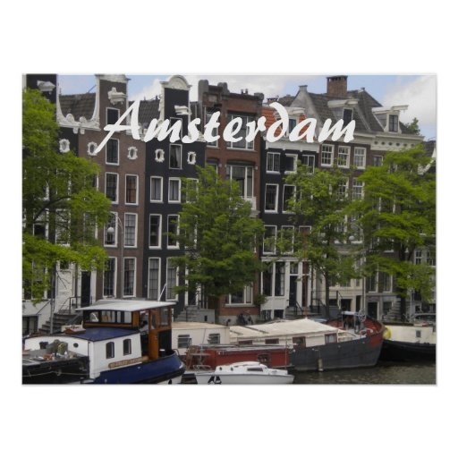 Amsterdam canal houses posters