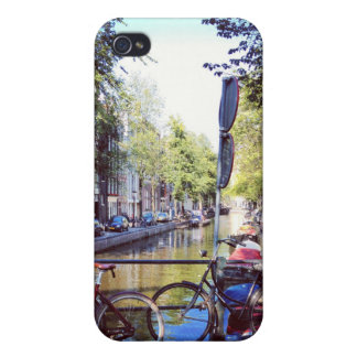 Amsterdam Canal iPhone 4 Matte Finish Case Covers For iPhone 4