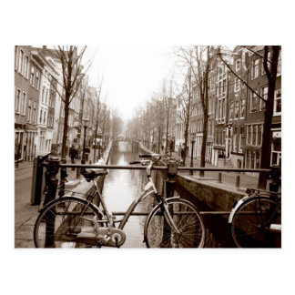 Amsterdam Canal Post Card