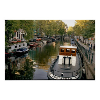 Amsterdam Canal Poster