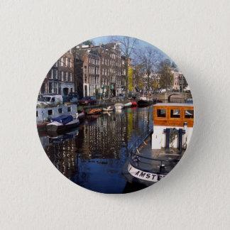 Amsterdam Canal - Spiegelgracht 6 Cm Round Badge