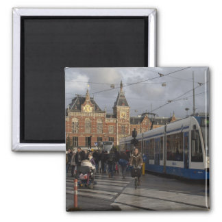 Amsterdam Central Station Square Magnet