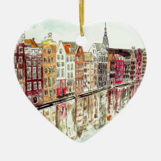 Amsterdam Ceramic Heart Decoration