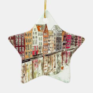Amsterdam Ceramic Star Decoration