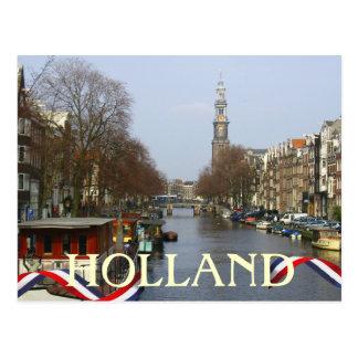 Amsterdam Church Tower Holland Postcard