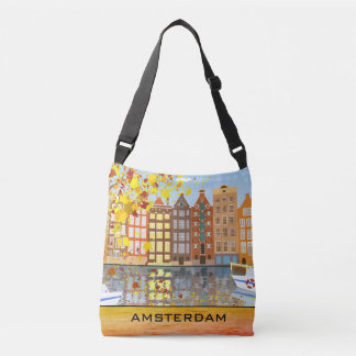 Amsterdam City Canal Autumn Colorful Fall Bag