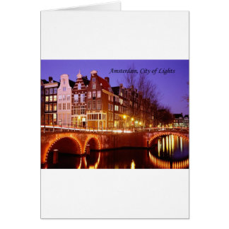 Amsterdam, City of Lights (by St.K.) Card