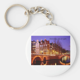 Amsterdam, City of Lights (by St.K.) Key Ring