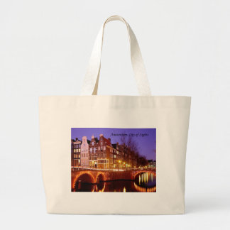 Amsterdam, City of Lights (by St.K.) Large Tote Bag