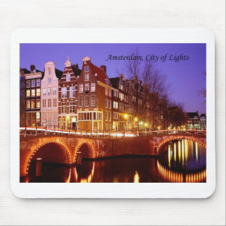 Amsterdam, City of Lights (by St.K.) Mouse Mat