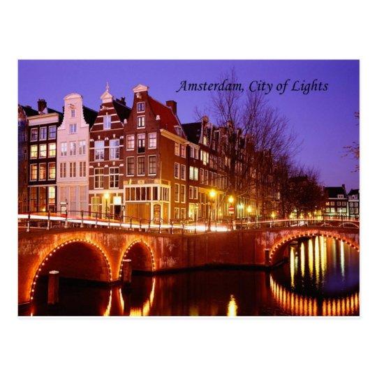 Amsterdam, City of Lights (by St.K.) Postcard