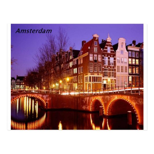 Amsterdam--City of lights [kan.k]. Postcard