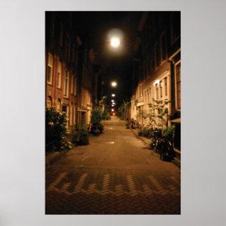 Amsterdam City Street Poster