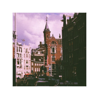 Amsterdam Cityscape Canvas Reproduction.