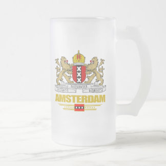 Amsterdam COA Frosted Glass Beer Mug