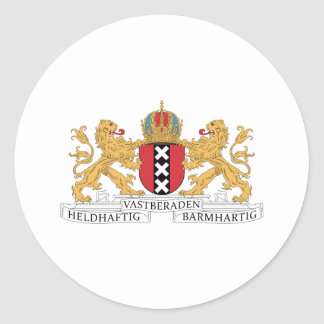 Amsterdam Coat Of Arms Classic Round Sticker
