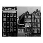 Amsterdam Coffee Shop B/W Art Print