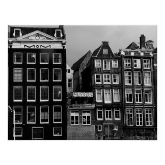 Amsterdam Coffee Shop B/W Art Print