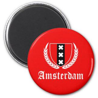Amsterdam Crest 6 Cm Round Magnet