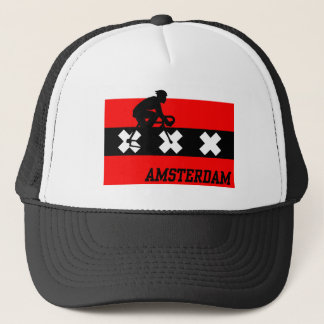 Amsterdam Cycling Male Trucker Hat